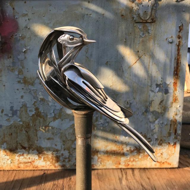 Мэтт Уилсон (Matt Wilson) и его скульптуры из столовых приборов 7