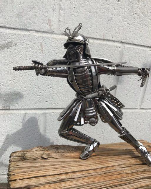 Мэтт Уилсон (Matt Wilson) и его скульптуры из столовых приборов 1