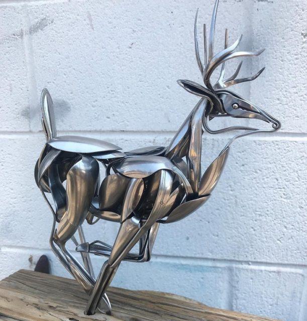 Мэтт Уилсон (Matt Wilson) и его скульптуры из столовых приборов 2