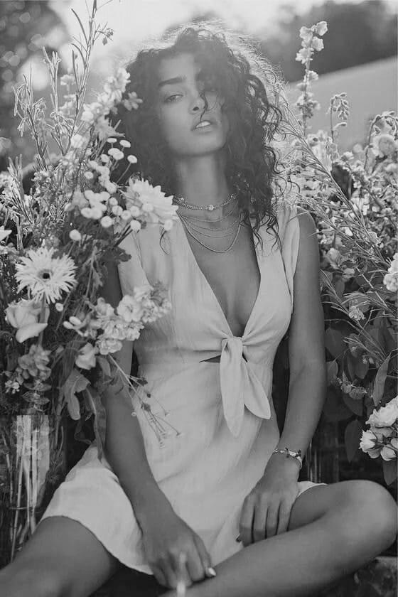 Красивые черно-белые фотографии девушек 4