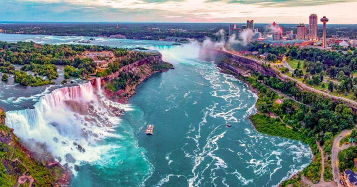 Ниагарский водопад – самое красивое место США