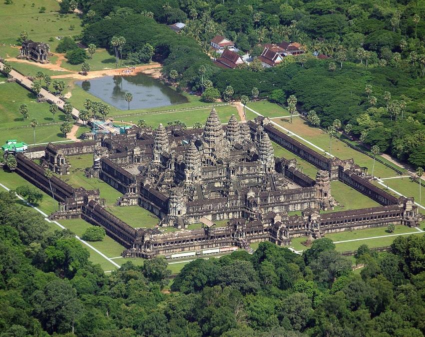 Ангкор-Ват, вид сверху