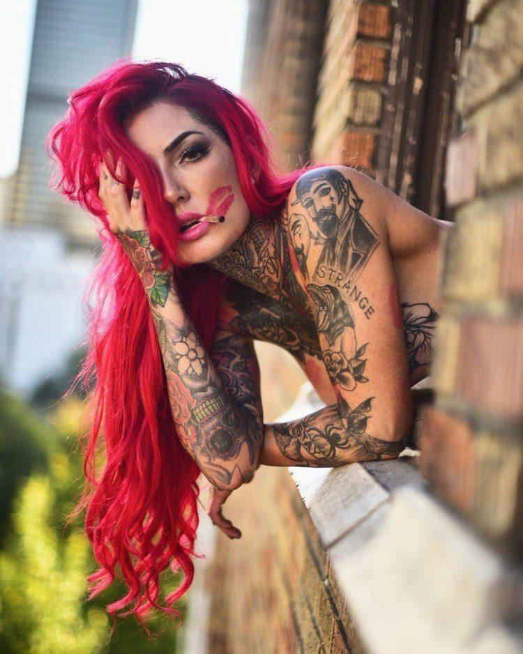 Фото девушек с татуировками - Шикарная подборка красоток с тату 2