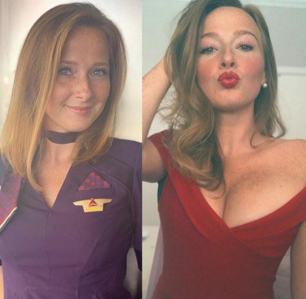 Красивые стюардессы - фото на работе и в сети: наслаждаемся... 2