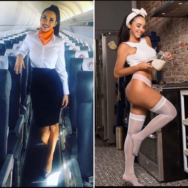 Красивые стюардессы - фото на работе и в сети: наслаждаемся... 4