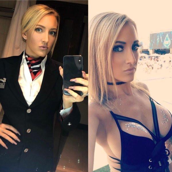 Красивые стюардессы - фото на работе и в сети: наслаждаемся... 6