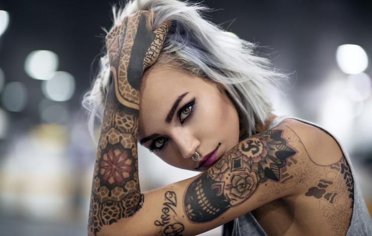 Фото девушек с татуировками - Шикарная подборка красоток с тату 10