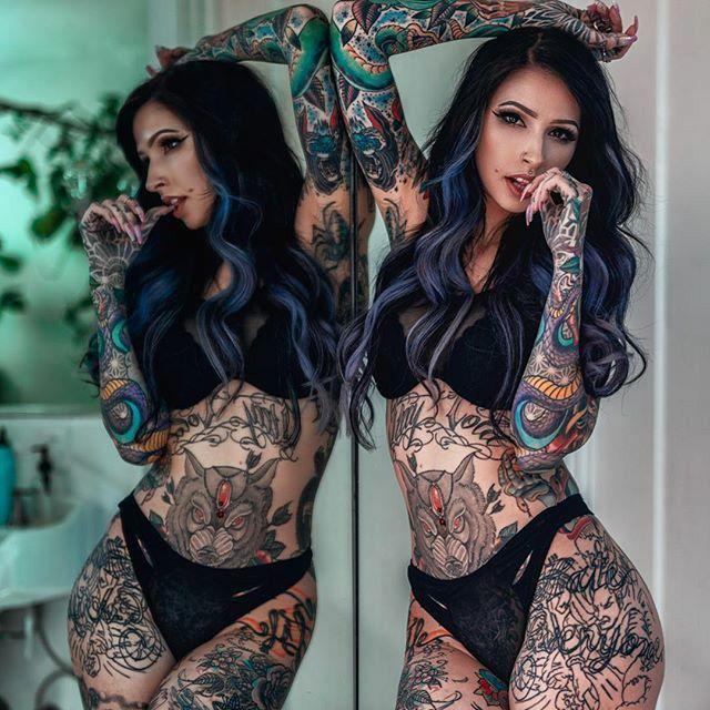 Фото девушек с татуировками - Шикарная подборка красоток с тату 4