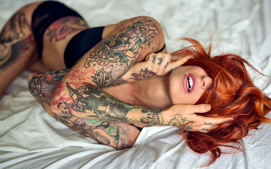 Фото девушек с татуировками - Шикарная подборка красоток с тату 9