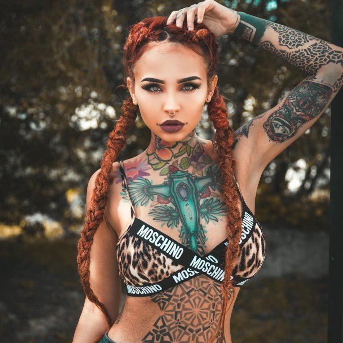 Фото девушек с татуировками - Шикарная подборка красоток с тату 15