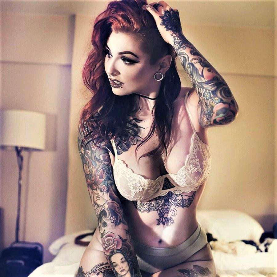 Фото девушек с татуировками - Шикарная подборка красоток с тату 17