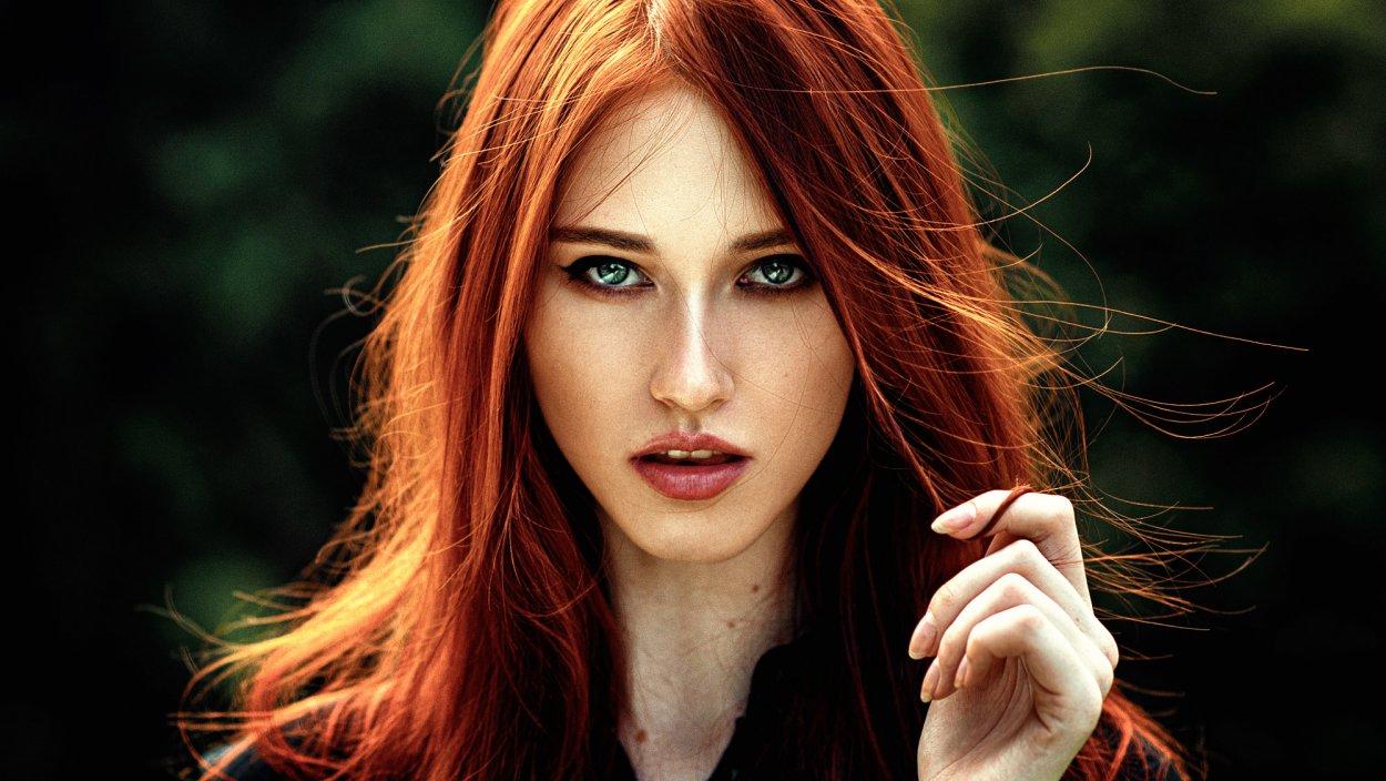 Фото рыжих девушек с зелеными глазами - просто волшебно... 12
