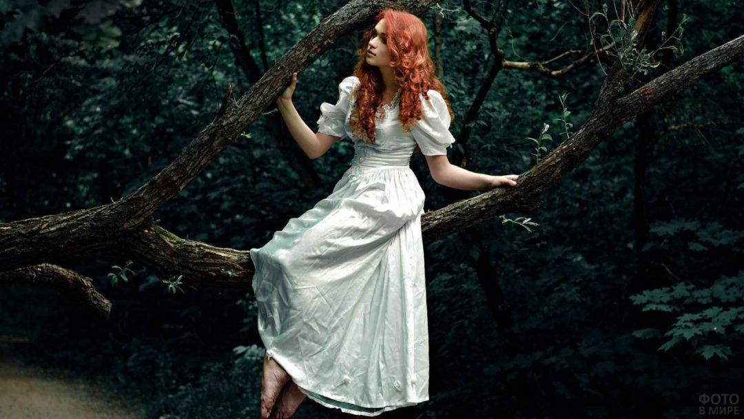 Рыжие девушки с кудрявыми волосами: фото ярких кудряшек 8