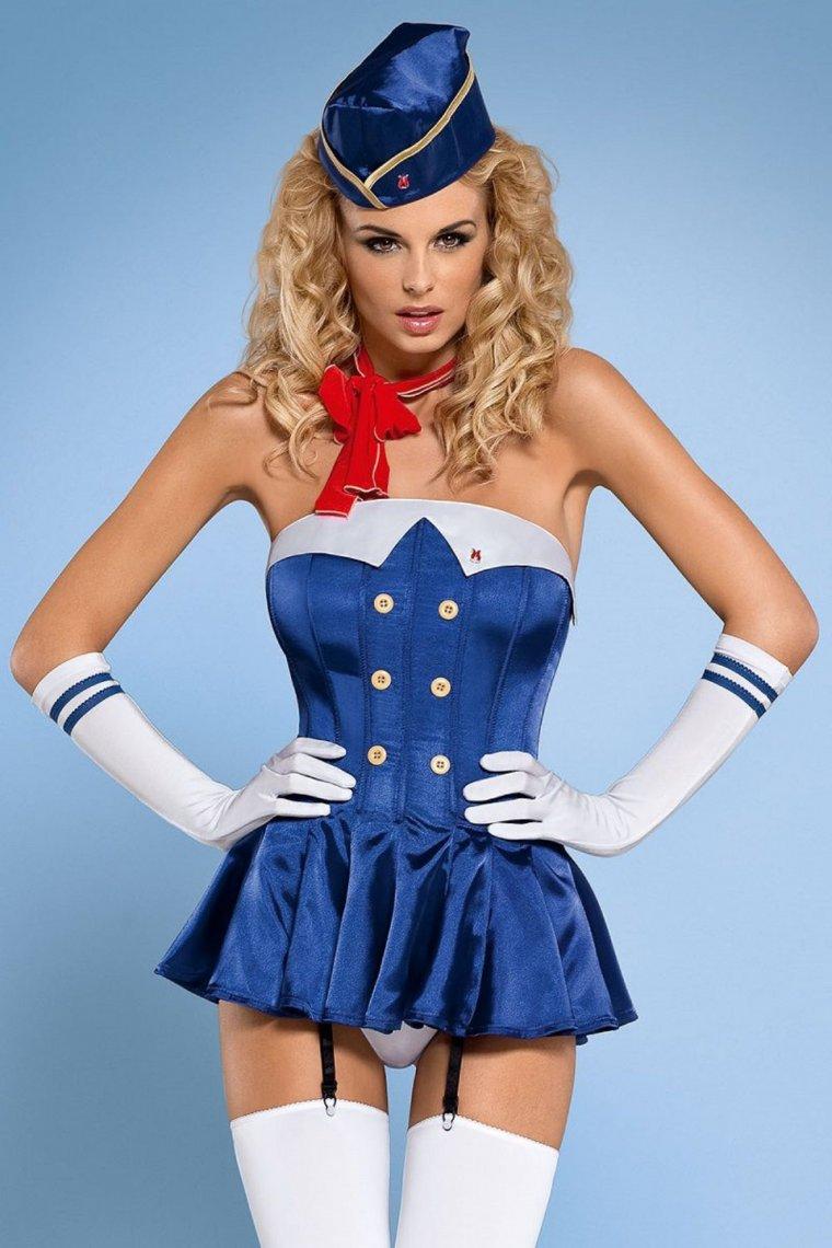 Красивые девушки в синих и голубых платьях: они очаровательны 5