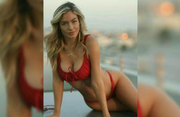 Ханна Палмер - горячие фото блондинки в красном