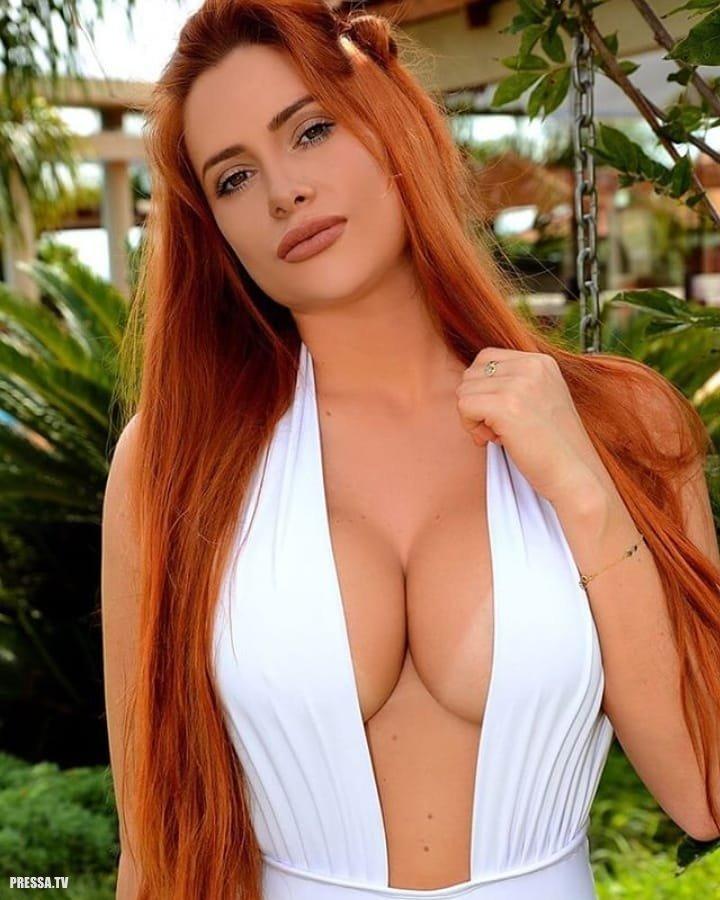 Рыжие девушки с большой грудью: сочные и яркие 6