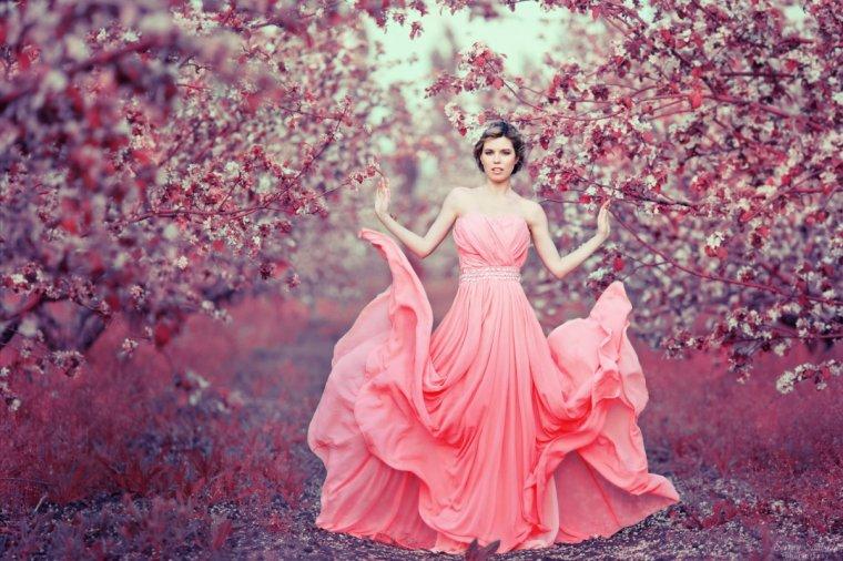 Фото девушек в розовых платьях: гламурные милашки 1