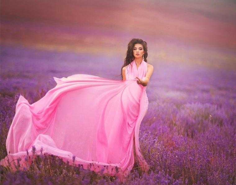 Фото девушек в розовых платьях: гламурные милашки 9