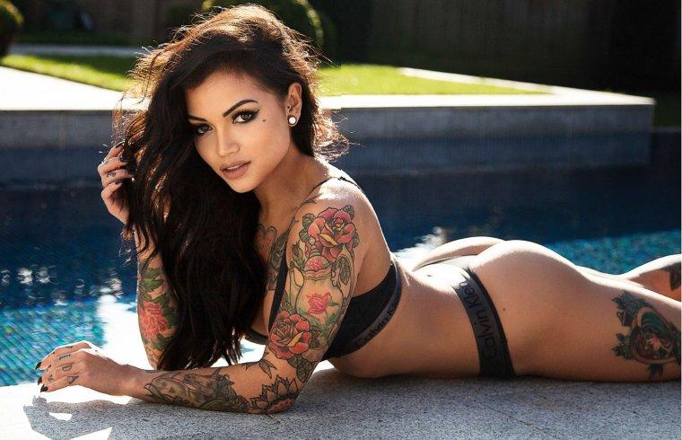 Девушки с красивыми татуировками - новая подборка 13