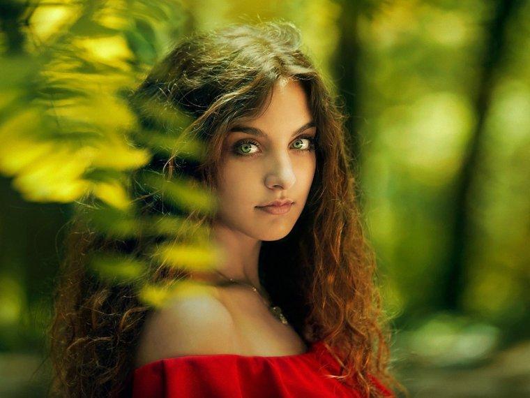 Красивые зеленоглазые девушки: фото крупным планом 7