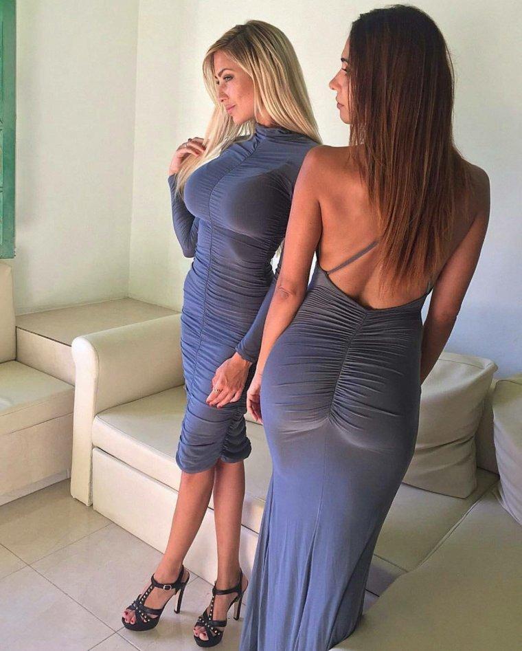 Девушки с формами в облегающих платьях: горячие фото 9