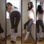 Худенькие девушки в лосинах: любительские фото 15