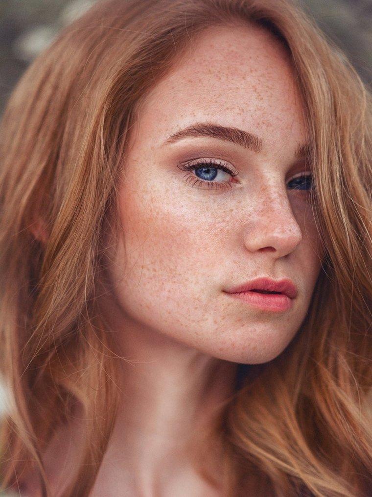 Красотки с веснушками: шикарные портреты 5