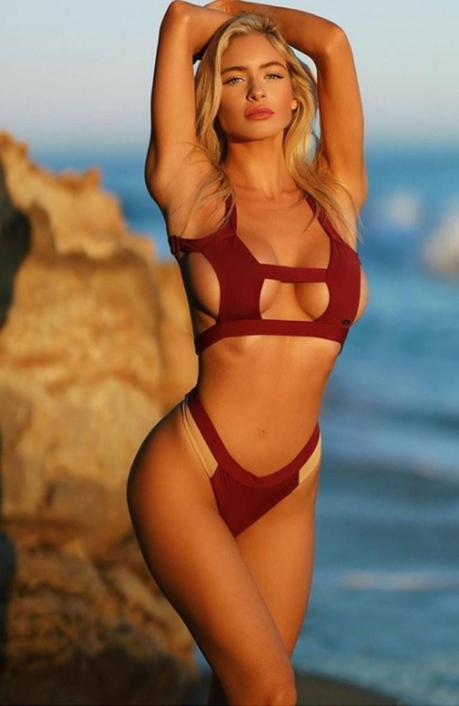 Ханна Палмер - горячие фото блондинки в красном 7