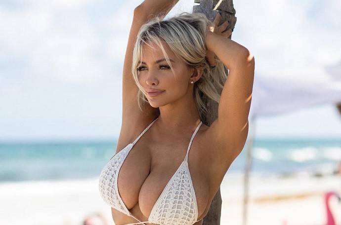 Линдси Пелас (Lindsey Pelas) - сексуальная американка с 8-м размером груди 9