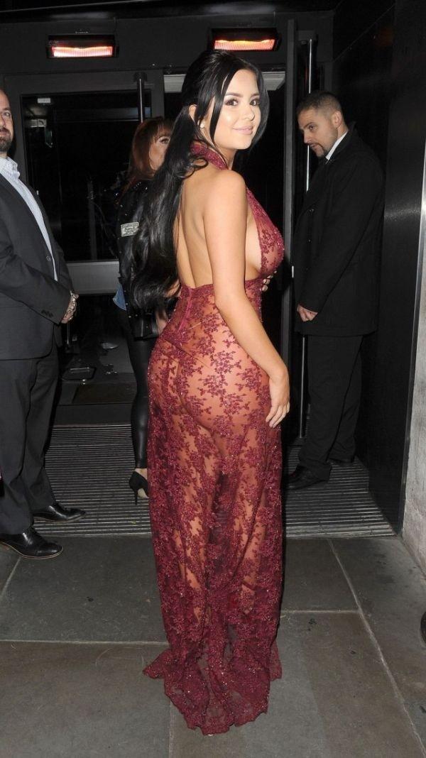 Деми Роуз в откровенном прозрачном платье: горячие фото 7