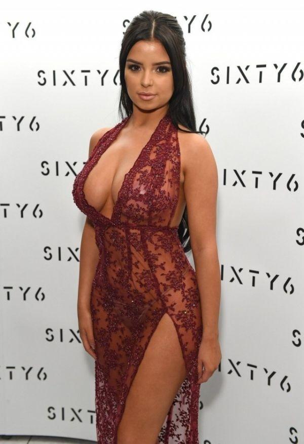 Деми Роуз в откровенном прозрачном платье: горячие фото 4