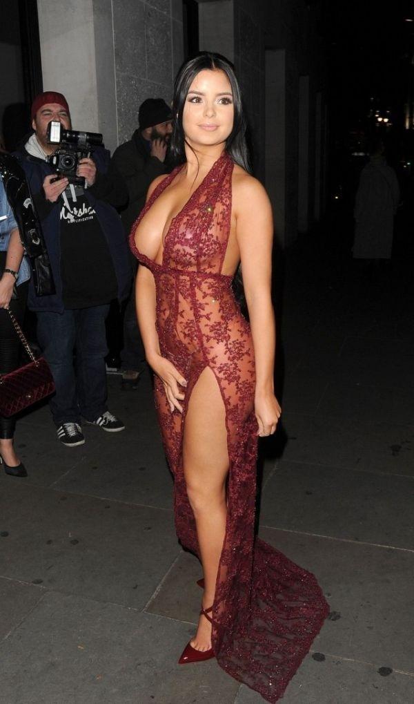 Деми Роуз в откровенном прозрачном платье: горячие фото 8