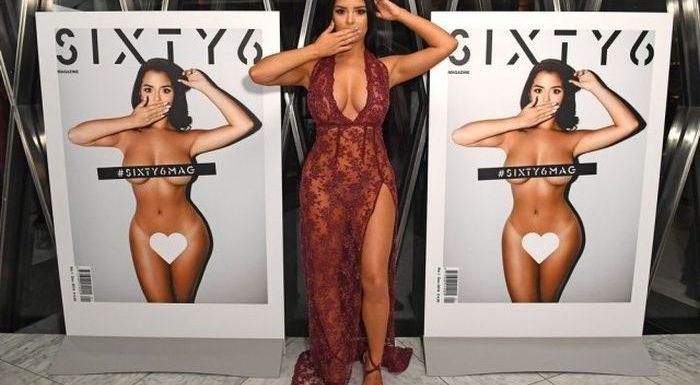 Деми Роуз в откровенном прозрачном платье: горячие фото