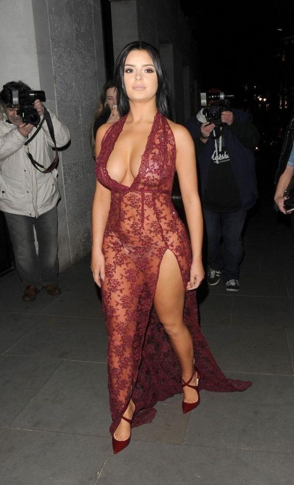 Деми Роуз в откровенном прозрачном платье: горячие фото 9