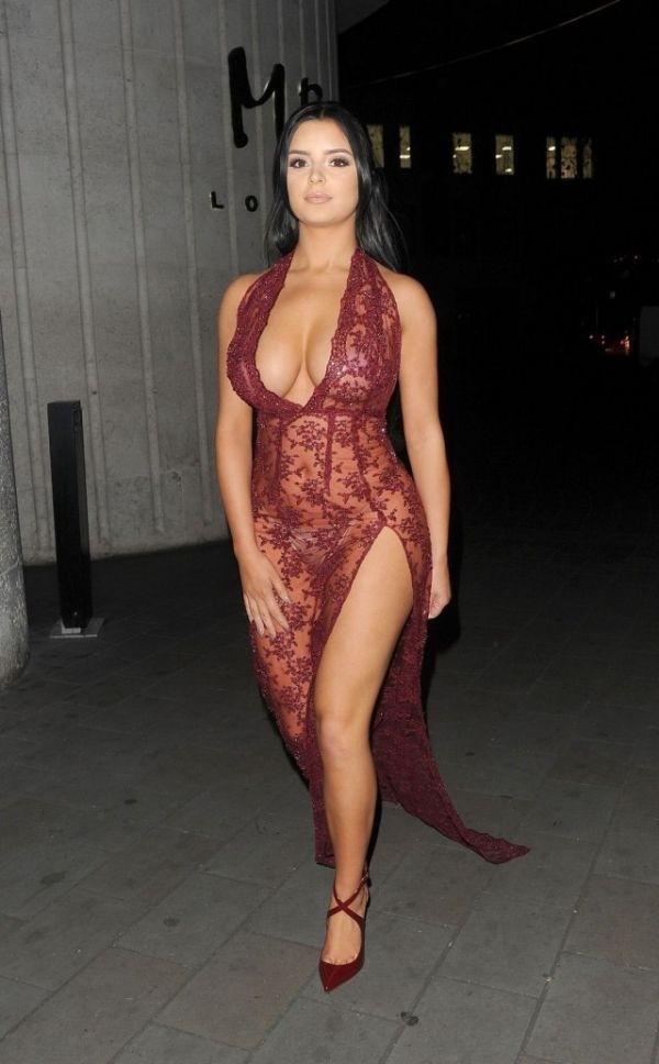Деми Роуз в откровенном прозрачном платье: горячие фото 5