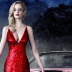 Шикарные красотки в розовых и красных мини платьях 15