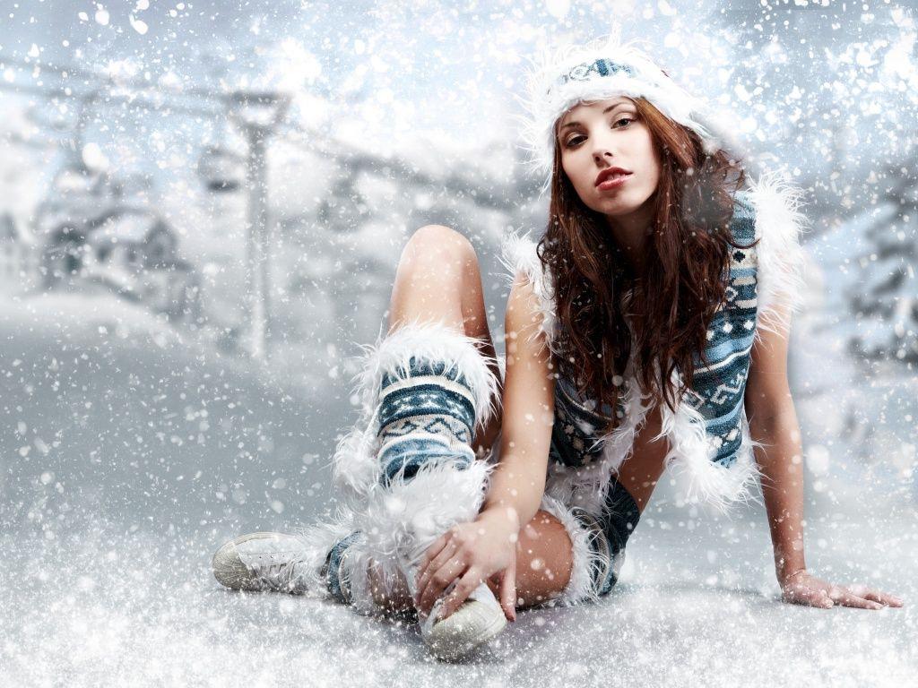 Красивые новогодние девушки (30 Фото) 1