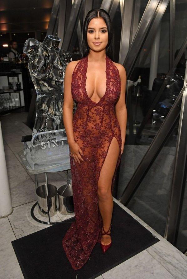 Деми Роуз в откровенном прозрачном платье: горячие фото 3
