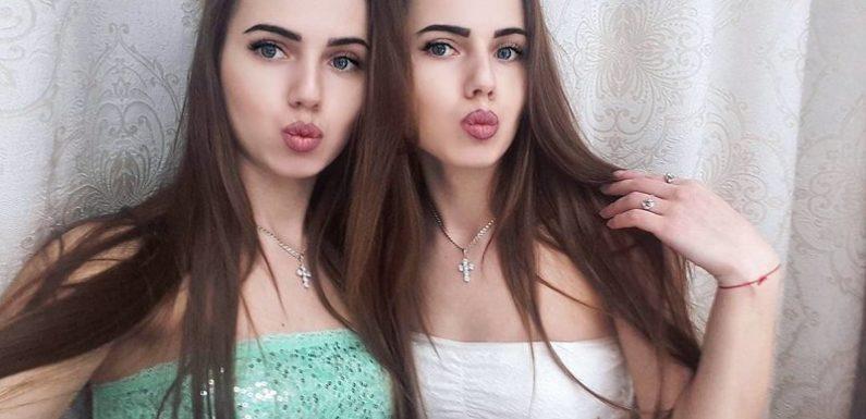 Фото красивых близняшек: сестры милашки