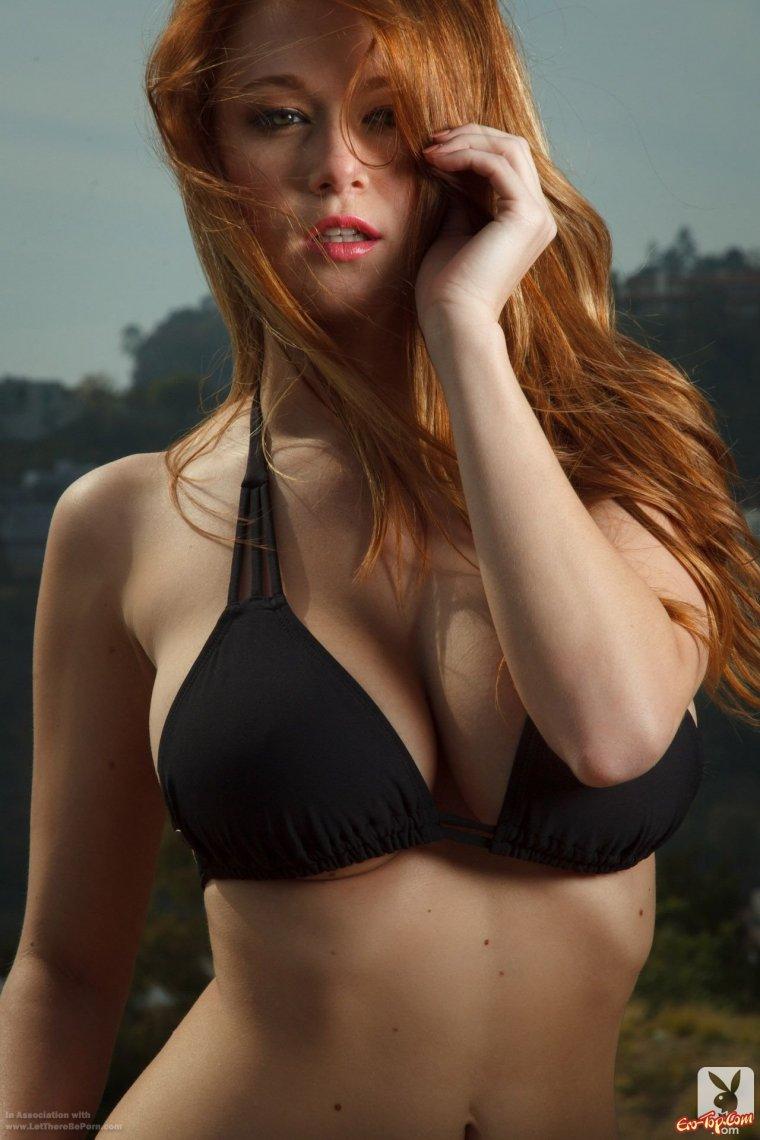 Рыжие девушки с большой грудью: сочные и яркие 15