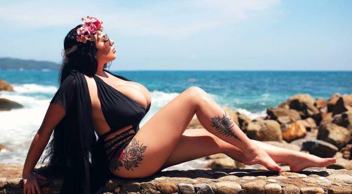 Анастасия Бертье – россиянка с огромной грудью