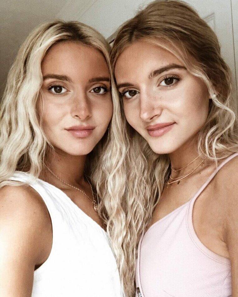 Фото красивых близняшек: сестры милашки 6
