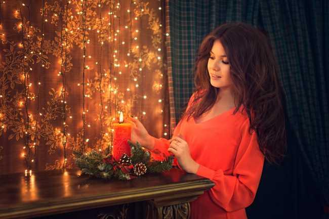 Красивые новогодние девушки (30 Фото) 17