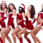 Сексуальные девушки в новогодних костюмах 14