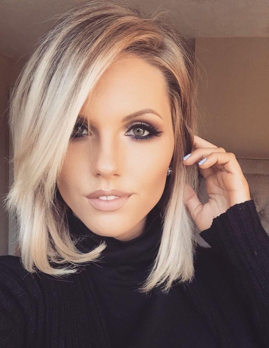 Шикарные девушки с каре: сексуальные брюнетки и блондинки с волосами до плеч 26