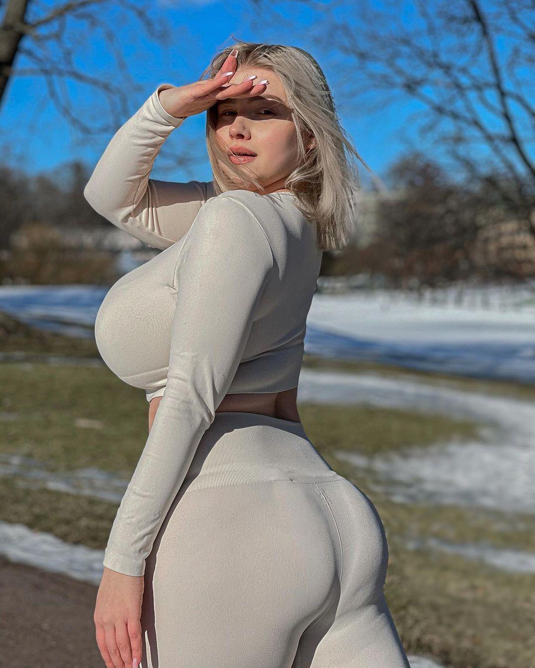 Прасковья Позднякова (Pasha Pozdniakova) - финская красотка с огромной грудью 18